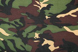 pic of khakis  - Brown khaki black military print as background - JPG