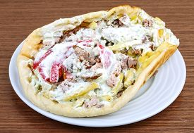 stock photo of souvlaki  - Greek traditional cuisine  - JPG