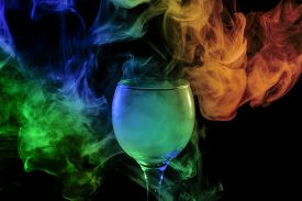 stock photo of hookah  - Abstract art - JPG