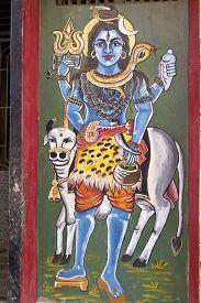 picture of shiva  - FEBRUARY 6 2014 PURI ORISSA INDIA  - JPG