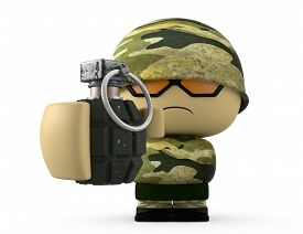 pic of grenades  - 3D Cartoon character - JPG