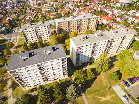 foto of suburban city  - Aerial photography of suburban houses - JPG