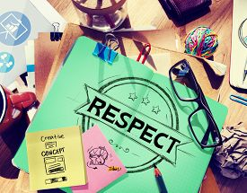 picture of respect  - Respect Honesty Honorable Regard Integrity Concept - JPG