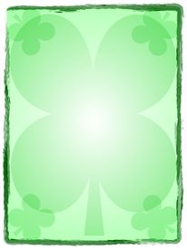 stock photo of st patty  - a large four leaf clover surrounded by four more in the corners - JPG