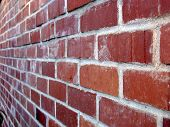 Brick Wall At Angle.