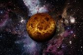 Planet Venus. Elements Of This Image Furnished By Nasa. poster