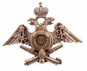 Color photo of the old order with a double-headed eagle