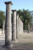 stock photo of olympic stadium construction  - greek ancient columns - JPG