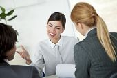 stock photo of business meetings  - young people in business meeting - JPG