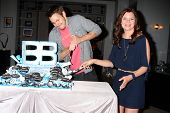 LOS ANGELES - MAY 17:  Scott Clifton, Heather Tom at the Bold & Beautiful Celebration of their Emmy