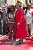 LOS ANGELES - MAY 19:  Chaka Kahn & Mother Sandra at the Chaka Kahn Hollywood Walk of Fame Star Ceremony at Hollywood Blvd on May 19, 2011 in Los Angeles, CA.