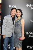 LOS ANGELES - MAY 19:  Ken Jeong & wife arriving at the