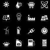 Energy icons - black series