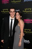 LOS ANGELES - MAY 20:  Dan Levy, Rachel Specter arriving at the 2011 Young Hollywood Awards at Club
