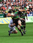 NORTHAMPTON, UK - SEPT 05: Northampton Saints vs Leicester Tigers Premiership Match, September 05 ,