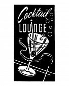 Cocktail Lounge 5 - Retro Ad Art Banner
