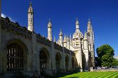 Front Facade Of King'S College, University Of Cambridge