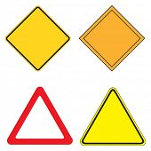 Set of 4 warning sign vector illustration