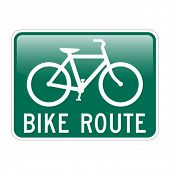 Bike Route with glossy effect