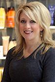 Beautiful Blonde In A Hair Salon