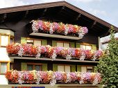A typical house-front in Tirol