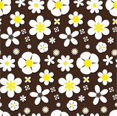Seamless daisy backgroud