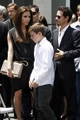 LOS ANGELES - MAY 23:  Victoria Beckham, Brooklyn Beckham, Marc Anthony at the Simon Fuller Hollywoo