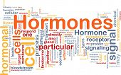 Background concept wordcloud illustration of Hormones hormonal signal