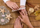 manicure treatment in the spa salon