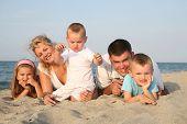 happy family having holiday at the beach
