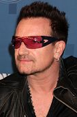 LOS ANGELES - MAY 25:  Bono. in the 2011 American Idol FInale Press Room at Nokia at LA Live on May
