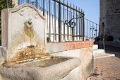 Chateau des Abbes de Lerins outside drinking fountain
