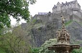 Ross Fountain in front of Edinburgh Castle
