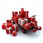 Pallet Truck With Heap Of Gifts
