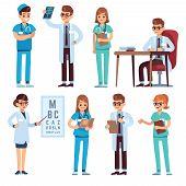 Doctors Team. Medical Staff People Doctor Nurse Surgeon Pharmacist Dentist Professional Medic Hospit poster
