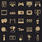 Interesting Show Icons Set. Simple Set Of 25 Interesting Show Vector Icons For Web For Any Design poster