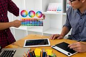 Graphic Designers Present Colors From The Color Palette To Their Friends, For Creative Design Ideas, poster