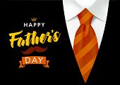 Happy Fathers Day Vector Lettering Background. Happy Fathers Day Calligraphy Banner With With Brown  poster