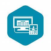 Lab Digital Monitor Icon. Simple Illustration Of Lab Digital Monitor Vector Icon For Web Design Isol poster