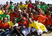 Young Ethiopian performers celebrating the 20th World Aids Day
