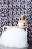 Bride Full Length Sitting Portrait