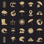 Climate Icons Set. Simple Set Of 25 Climate Vector Icons For Web For Any Design poster