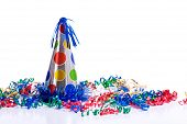 Birthday Hat And Streamers