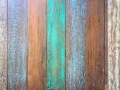 Pastel Wood Planks Material Texture Background For Wallpaper, Old Wood, Turquoise, And Blue Color Vi poster