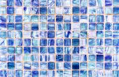 Ceramic Tile Mosaic. Background And Texture Tile Mosaic. Tile Mosaic In The Interior Of The Bathroom poster