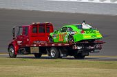 DAYTONA BEACH, FL - FEB. 23: Danica Patrick (10) spins off of turn 2 and wrecks during the Gatorade