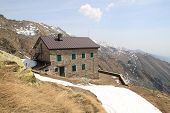 picture of italian alps  - Hostel in the high mountains  - JPG