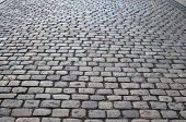 Close Up Detailed View On A Cobblestone Street Pavement In High Reoslution poster