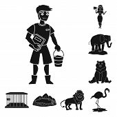 Isolated Object Of Fauna And Entertainment Logo. Collection Of Fauna And Park Stock Symbol For Web. poster