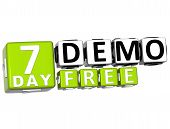 3D Get 7 Day Demo Free Block Letters